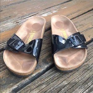 Birkenstock Madrid Sandals Sz 8 39 Glossy Patent